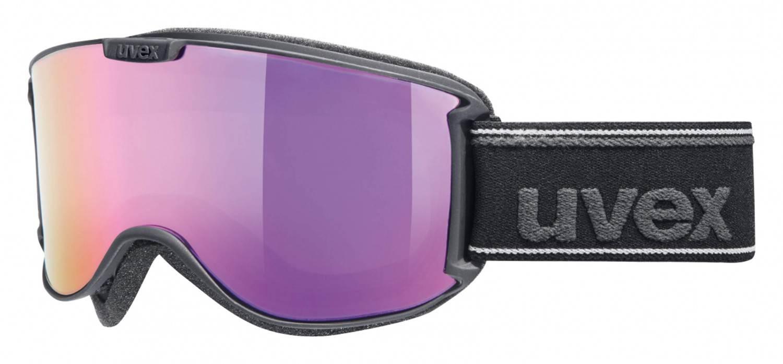 uvex Skyper Skibrille Polavision Mirror (Farbe: 2026 black met mat, litemirror pink/polavision/lasergold lite)