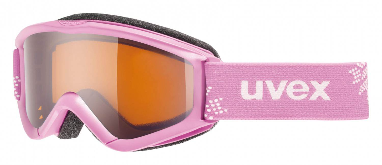 uvex Kinderskibrille Speedy Pro (Farbe 0912 pink snowflake, single lens lasergold)