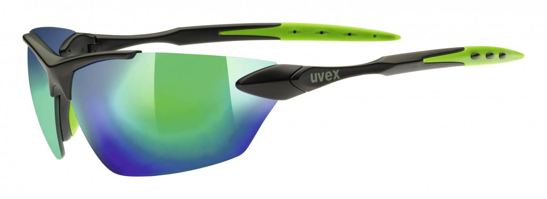 uvex sportstyle 203 Sportbrille (Farbe: 2215 black/green, mirror green)