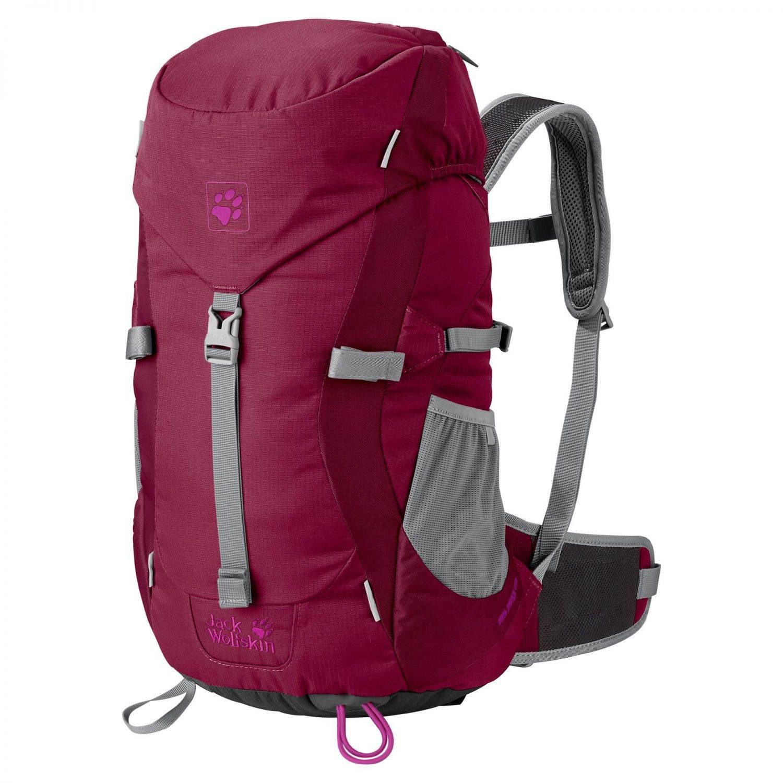 Klein Döbbern Angebote Jack Wolfskin Kids Alpine Trail Rucksack (Farbe: 2501 dark ruby)