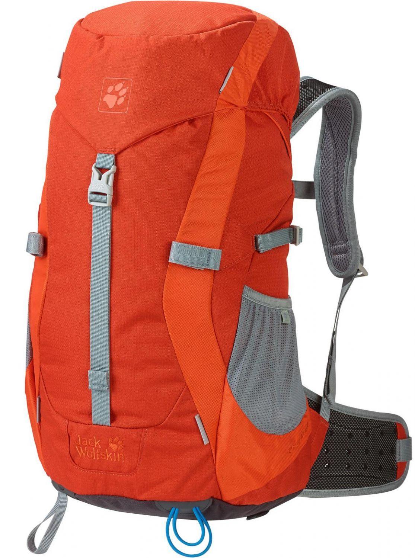 Jack Wolfskin Kids Alpine Trail Rucksack (Farbe: 3023 dark satsuma) Sale Angebote