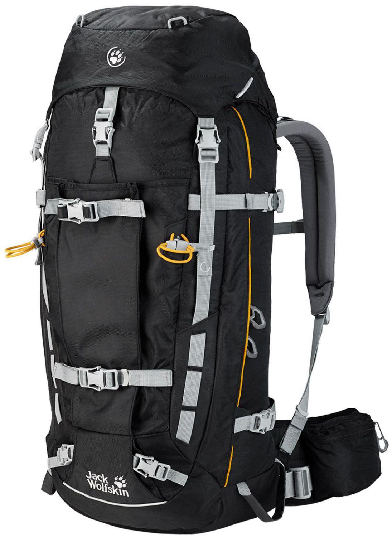 Jack Wolfskin Mountaineer 48 Alpinrucksack (Farbe: 6000 black) Sale Angebote Haasow