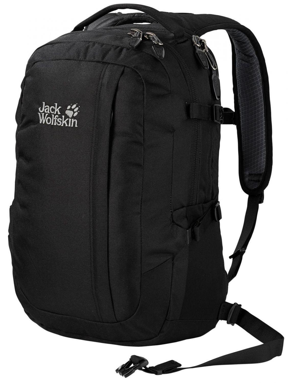 Jack Wolfskin Jack.Pot Laptoprucksack (Farbe: 6000 black) Sale Angebote Hornow-Wadelsdorf