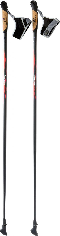 Pro Touch Impulse 2.0 Nordic Walking Stock (Stocklänge: 115 cm (ca. 172 bis 177 cm), 900 schwarz/rot/weiß)