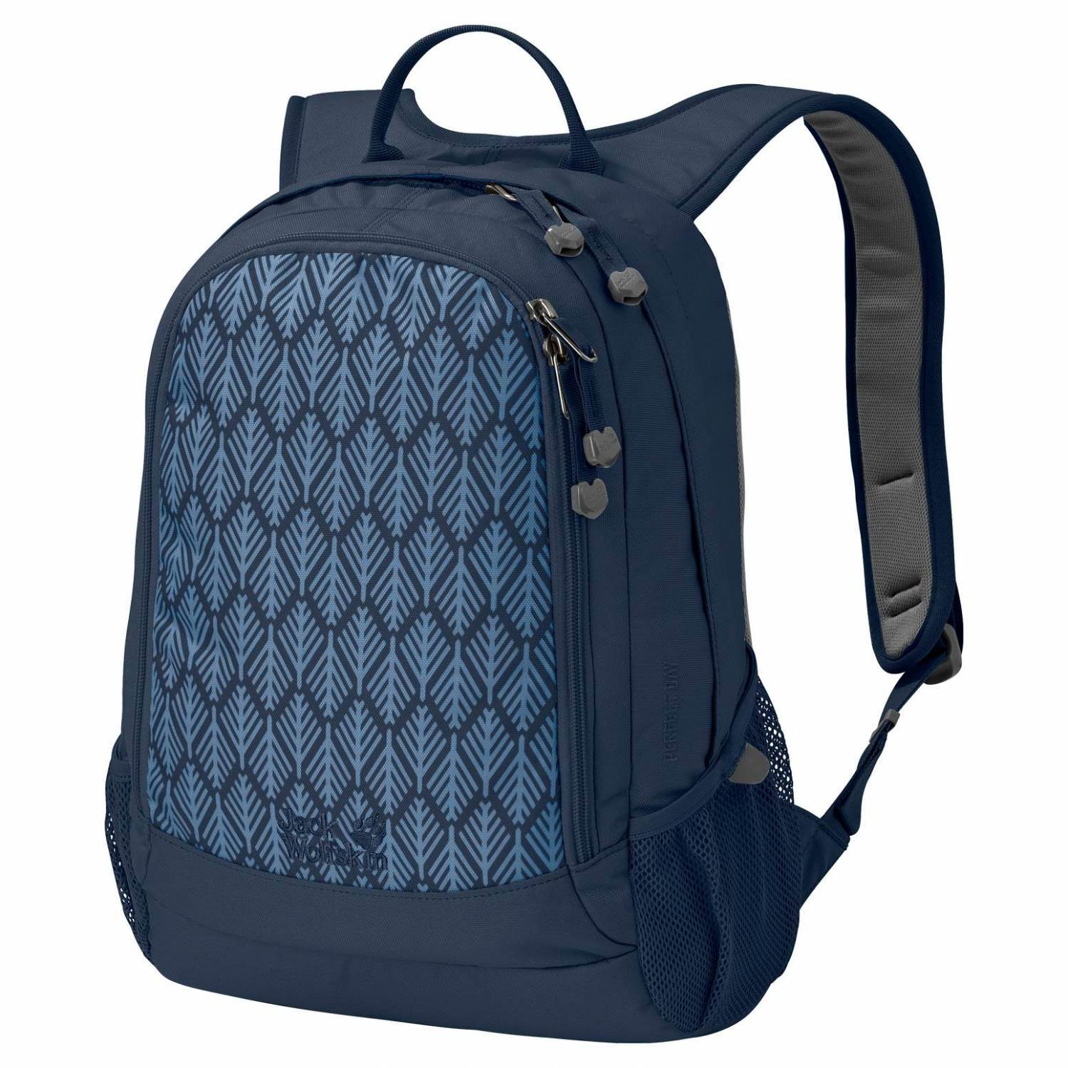 Jack Wolfskin Perfect Day Rucksack (Farbe: 7937 midnight blue geometric leaves)