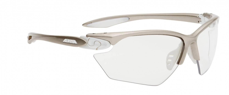 Alpina Twist Four S Varioflex+ Sportbrille (Rahmenfarbe: 120 prosecco white, Scheibe: Varioflex black)