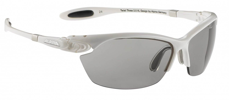Alpina Twist Three 2.0 Varioflex Sportbrille (Rahmenfarbe: 110 white, Scheibe: Varioflex black)