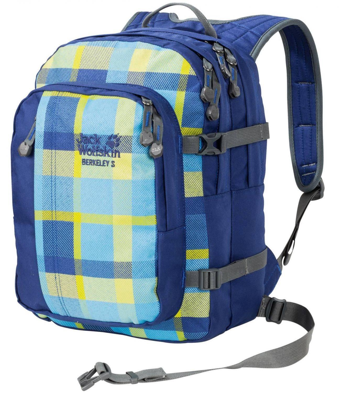 Jack Wolfskin Berkeley S Kinderrucksack (Farbe: 7952 blue woven check)