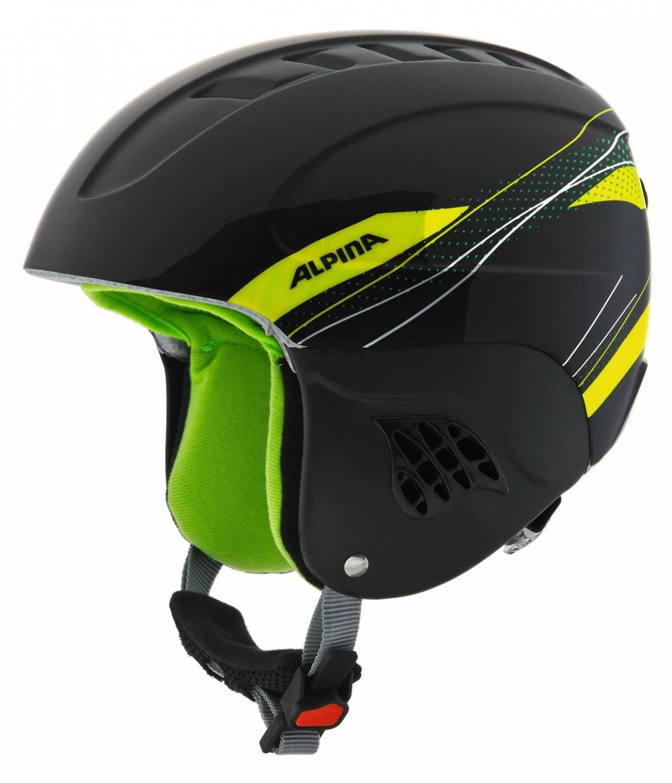 Alpina Carat Kinder Skihelm (Größe 51 55 cm, 34 black green)