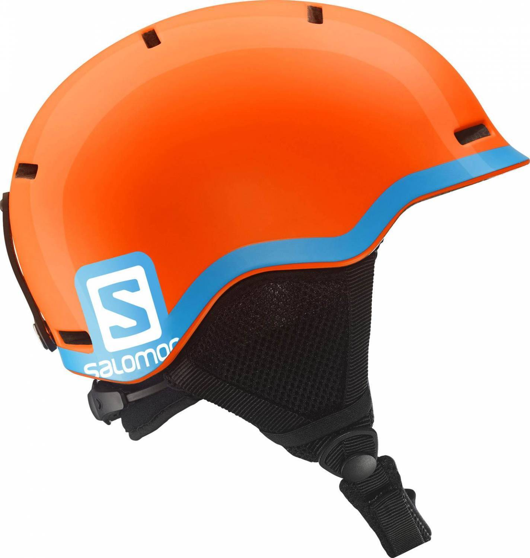 Salomon Grom Kinderskihelm (Größe 53 56 cm, fluo orange blue)