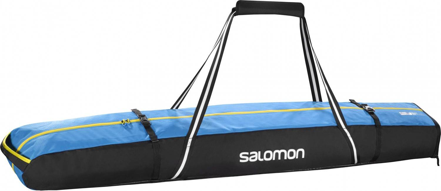Salomon Extend 2 Paar Skibag 175+20 (Farbe: black/process blue/corona yellow)