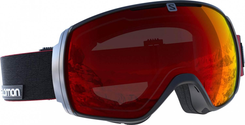 Salomon XT One Skibrille Brillen Träger (Farbe: black/red, Scheibe: multilayer universal mid blue)