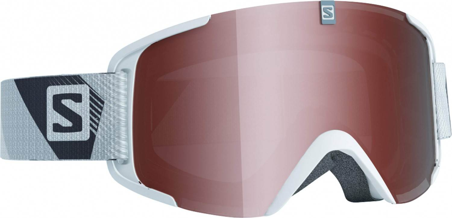 Salomon XView Access Skibrille (Farbe: white, Scheibe: tonic orange standard)