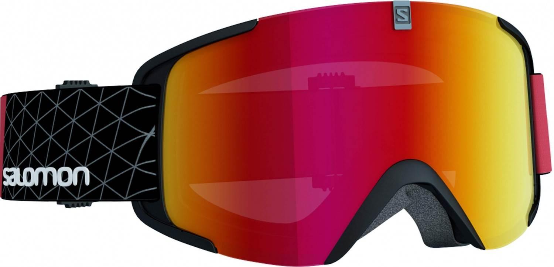 Salomon XView Skibrillen (Farbe: black/red, Scheibe: multilayer mid red)