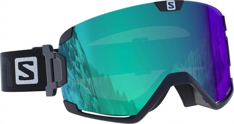 Salomon Cosmic Photochromic Skibrille Brillenträger (Farbe: blue, Scheibe: multilayer blue photochromic)