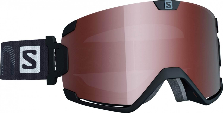 Salomon Cosmic Access Brillenträgerskibrille (Farbe: black, Scheibe: tonic orange flash)