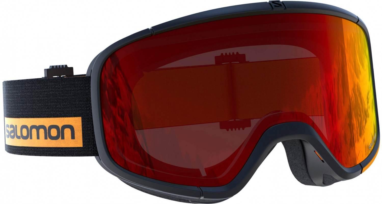 Salomon Four Seven Skibrille (Farbe: black turmeric, Scheibe: universal red)