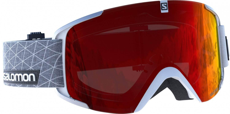 Salomon XView Allround Skibrille (Farbe: white, Scheibe: universal red)