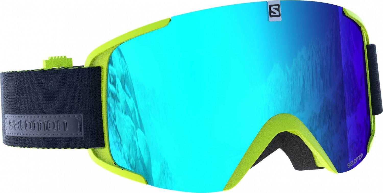 Salomon XView Allround Skibrille (Farbe: acid lime, Scheibe: solar blue)