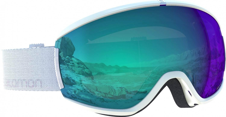 Salomon iVY Photo Skibrille (Farbe: white, Scheibe: photochromic blue)