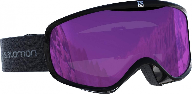 Salomon Sense Skibrille Women (Farbe: black, Scheibe: universal ruby)