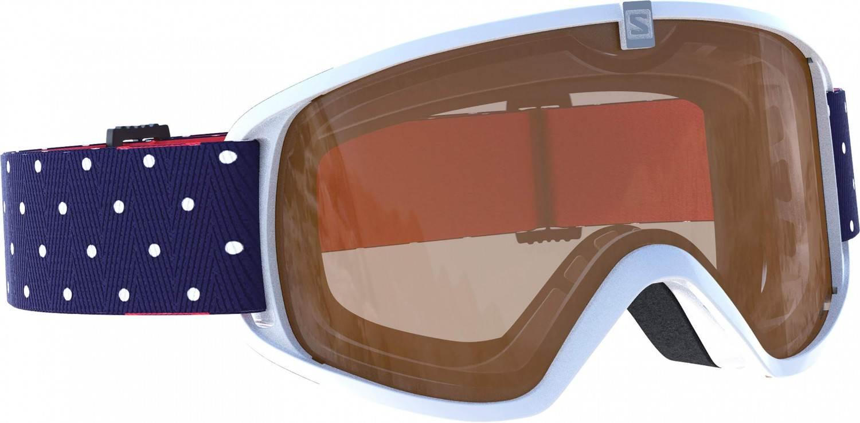 Salomon Trigger Skibrille (Farbe: white, Scheibe: light tonic orange)