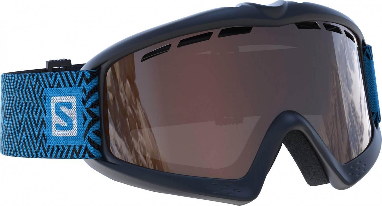 Salomon Kiwi Kinderskibrille (Farbe black, Scheibe solar tonic orange)