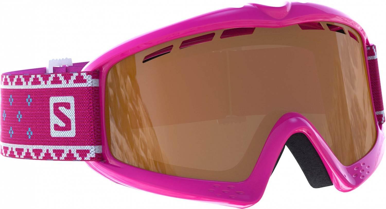 Salomon Kiwi Kinderskibrille (Farbe pink, Scheibe universal silver)