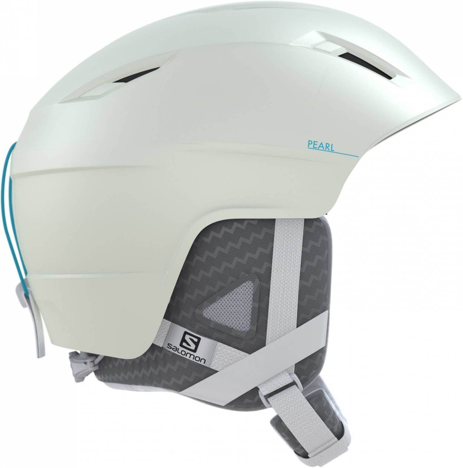 Salomon Pearl+ Skihelm Women (Größe: 53-56 cm, white/blue bird)