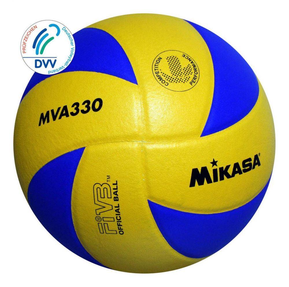 Mikasa Volleyball MVA 330 (Größe: 5, Farbe: 900 gelb/blau) Sale Angebote Hornow-Wadelsdorf
