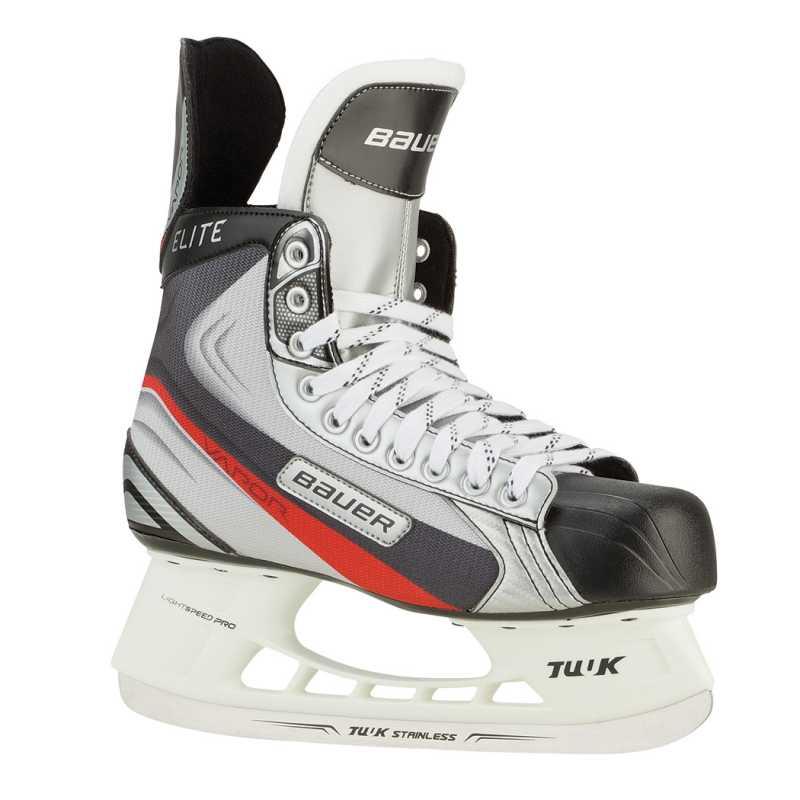 Bauer Eishockeyschlittschuh Vapor Elite (Größe: 11.0 = 47.0, 900 silber/hellgrau/ schwarz)