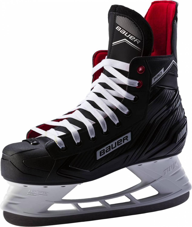 Bauer Pro Skate Junior Kinderschlittschuh (Größe 4.0 = 37.5, 900 schwarz weiß rot)