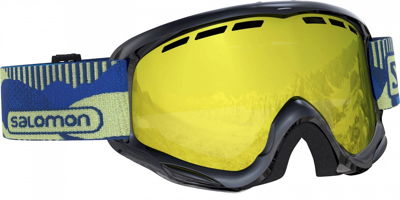 Salomon Juke Kinder Skibrille (Farbe black, Scheibe multilayer mid yellow)