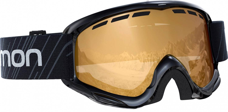 Salomon Access Juke Kinder Skibrille (Farbe black, Scheibe tonic orange standard)