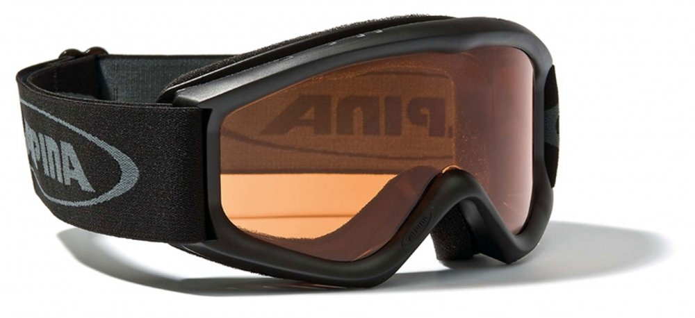 Alpina Carat S Kinder Skibrille (Farbe 431 schwarz, Scheibe SINGLEFLEX)