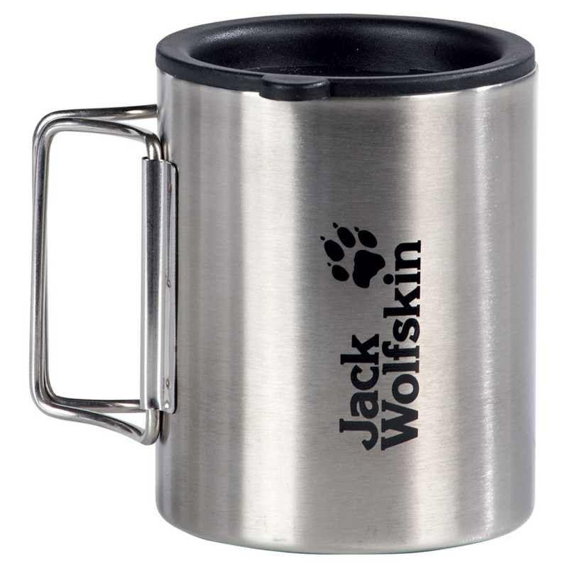 Jack Wolfskin Thermotasse Thermo Mug 0,25 Liter (Größe: 0,25 Liter, 6221 silber)