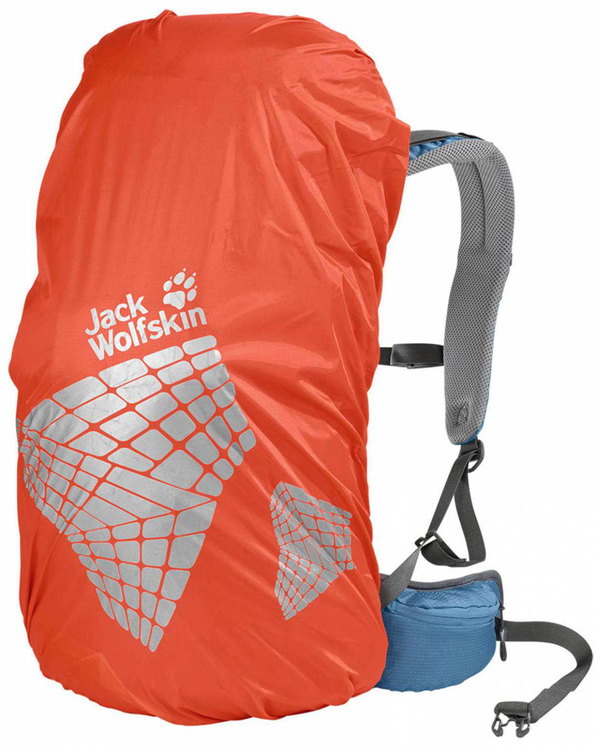 Jack Wolfskin Safety Raincover (Größe: L (bis 40 Liter), 3101 splashy orange)
