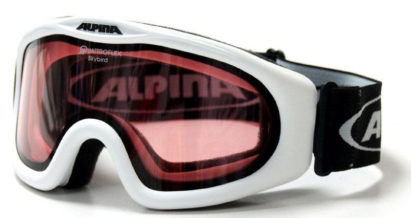 Kathlow Angebote Alpina Skybird Skibrille (Farbe: 011 weiß, Scheibe: QUATTROFLEX)