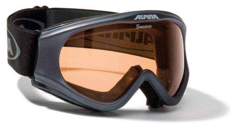Alpina Driber Skibrille (Farbe: 335 gun, Scheibe: SINGLEFLEX)