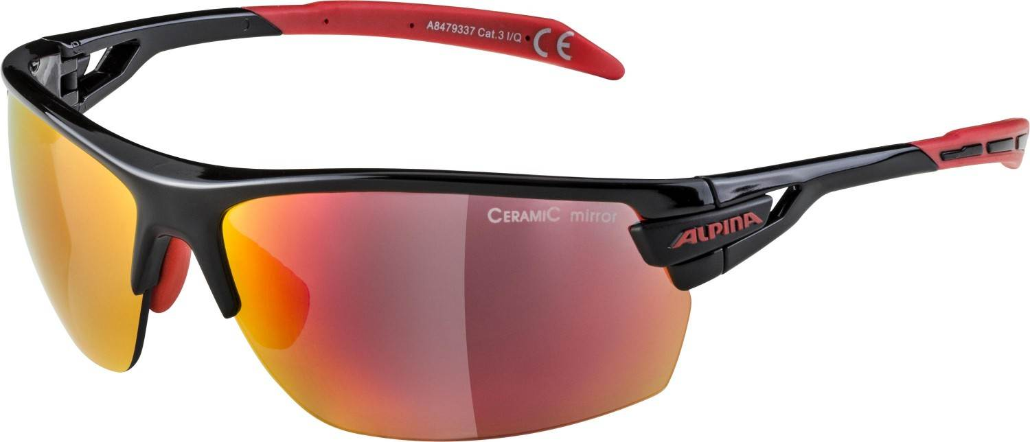alpina-tri-scray-sportbrille-farbe-337-black-red-scheibe-ceramic-mirror-red-mirror-clear-orange