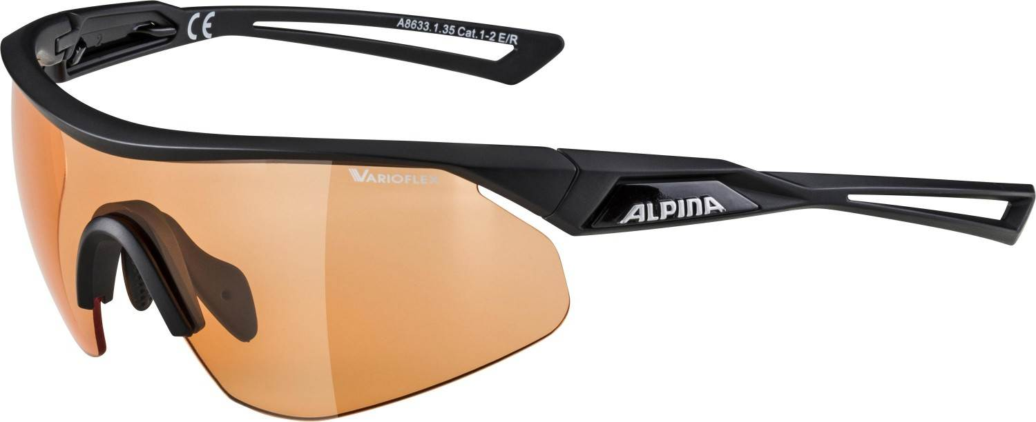 alpina-nylos-shield-vl-sportbrille-farbe-135-black-matt-scheibe-varioflex-orange-s1-2-