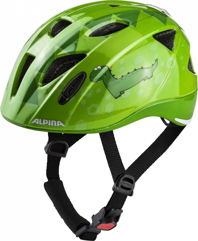 Alpina Ximo Flash Kinderfahrradhelm (Größe 47 51 cm, 71 green dino)