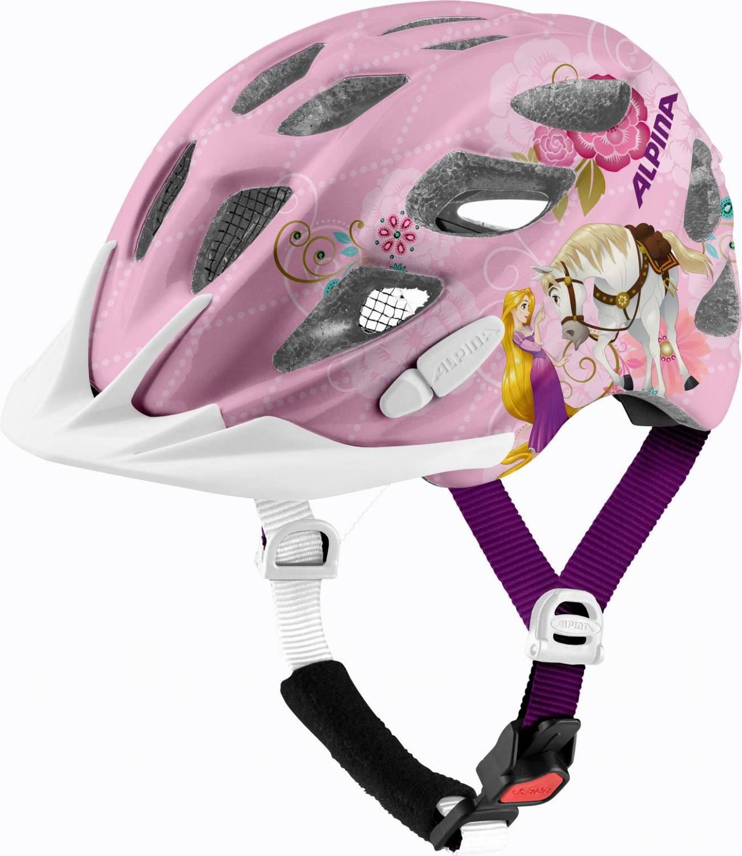 Alpina Rocky Kinder Fahrradhelm (Größe 47 52 cm, 51 Disney Rapunzel)