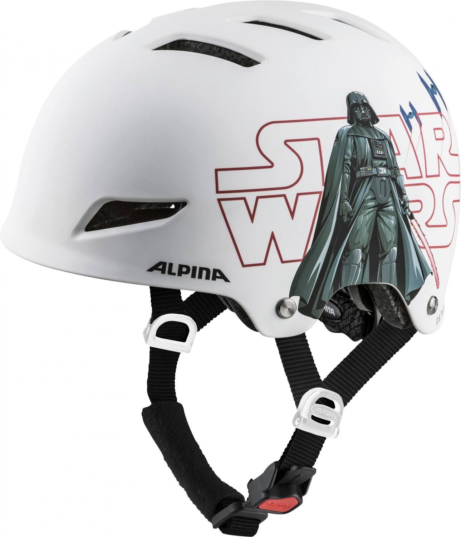Alpina Park Junior Fahrradhelm (Größe 51 55 cm, 10 Star Wars white)