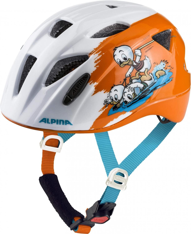 Alpina Ximo Kinder Fahrradhelm (Größe 45 49 cm, 40 Disney Donald Duck)