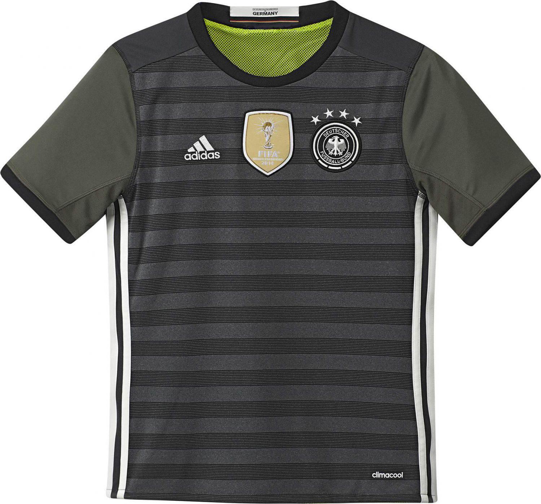 adidas DFB Away Jersey Auswärtstrikot Kinder (Größe 128, dark grey heather off white base green)