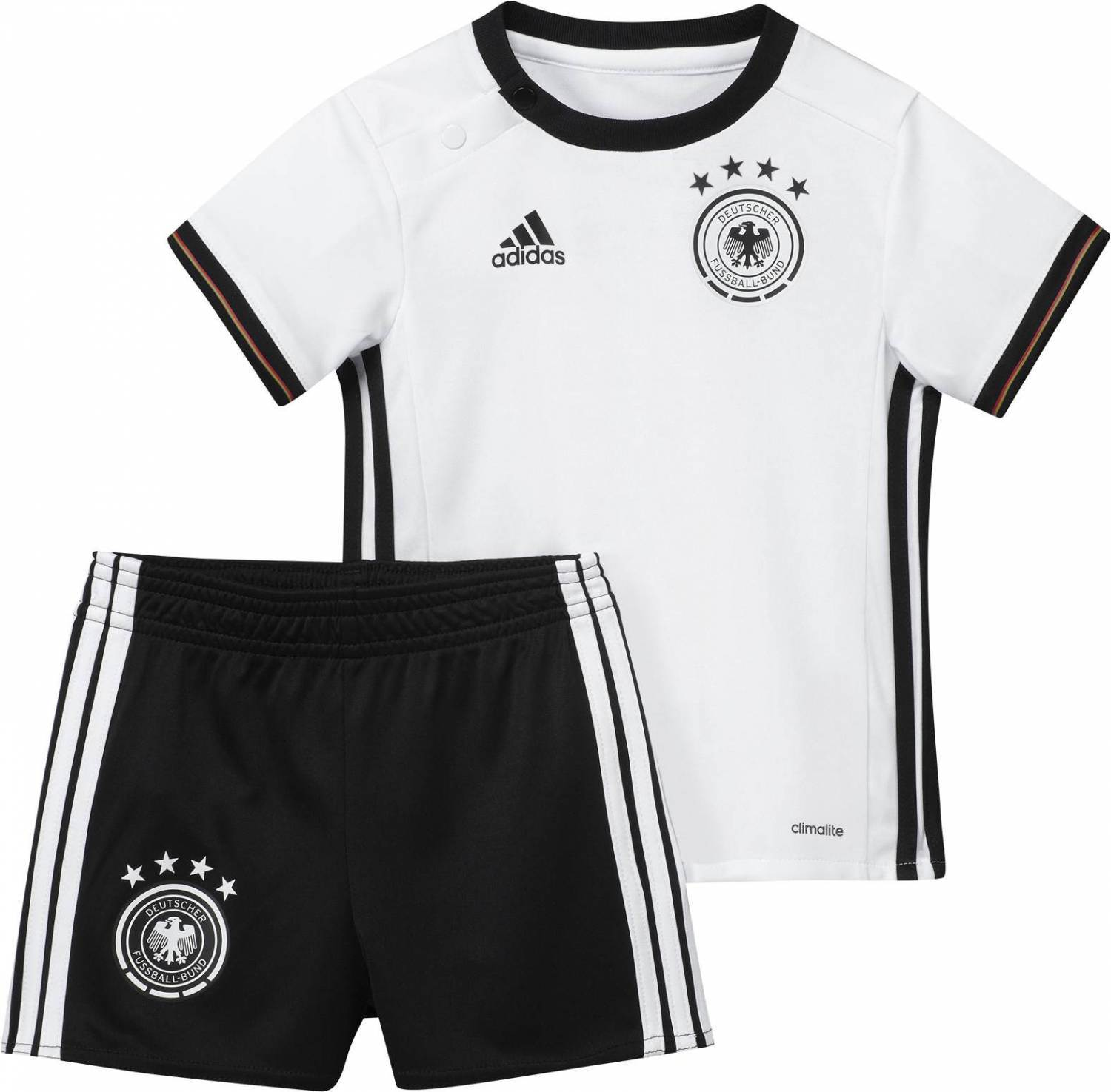 adidas DFB Home Baby Kit Set EM 2016 (Größe 74, white black)