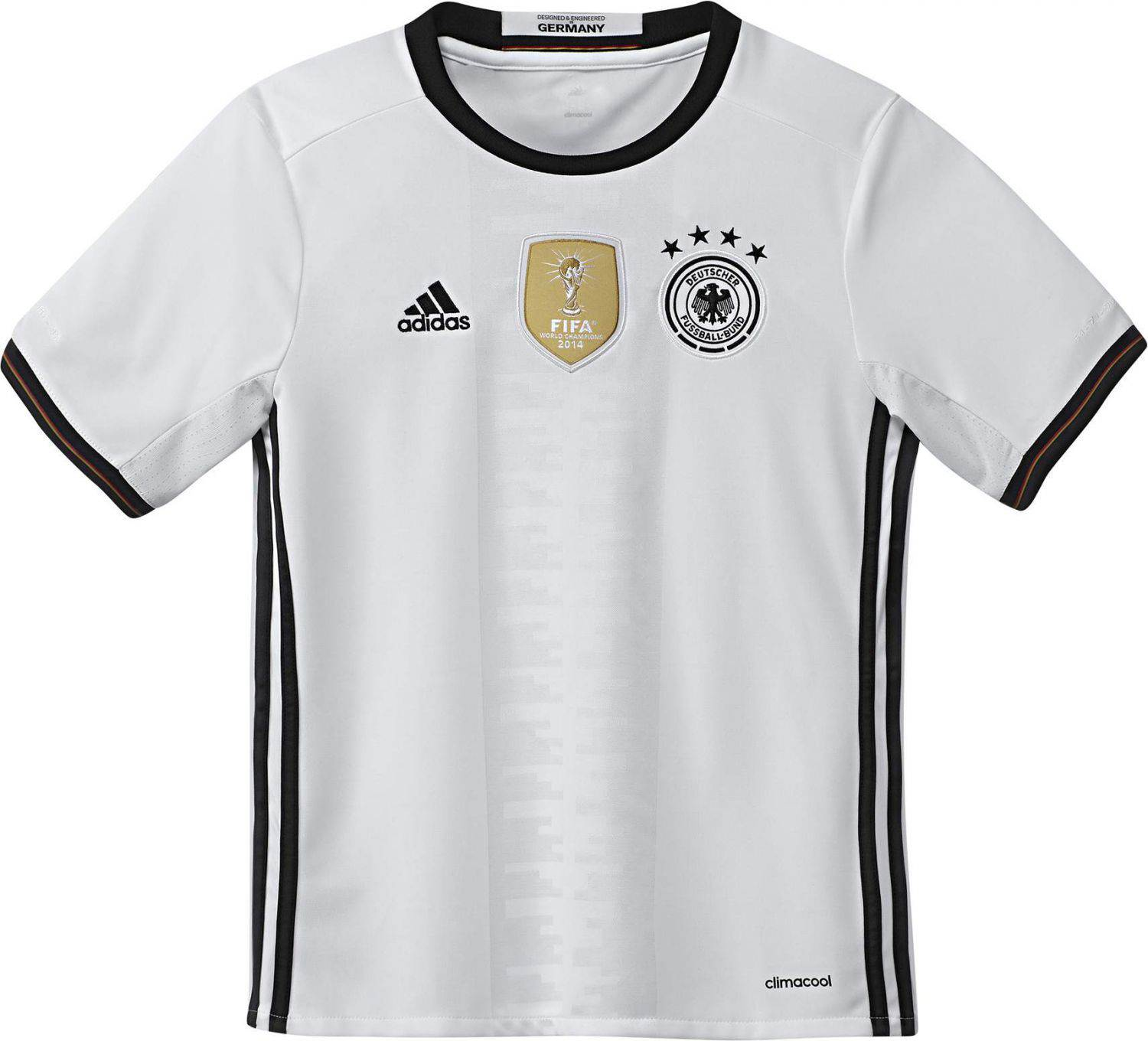 adidas DFB Home Jersey Youth Kindertrikot (Größe 128, white black)