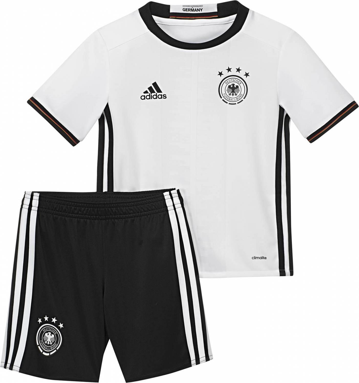 adidas DFB Home Mini Kit Set EM 2016 (Größe: 98, white/black) Preisvergleich