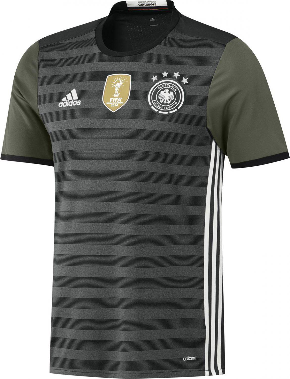 adidas DFB Away Authentic Jersey Auswärtstrikot (Größe: M, dark grey heather/off white/base green s15)